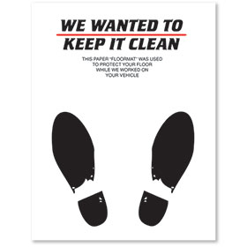 Large Paper Floor Mats - Keep it Clean - No Imprint
