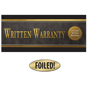 Auto Repair Written Warranty - Black & Gold Foil