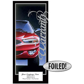 Auto Repair Written Warranty - Excellence, Platinum Foil