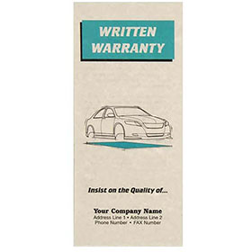 Auto Repair Written Warranty - Green, Insists on Quality