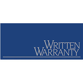 Written Warranty - Metallic Ink, Blue and Silver