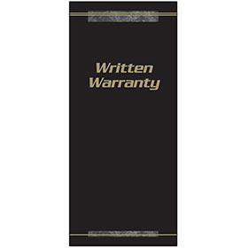 Customer Satisfaction Warranty - Black and Gold