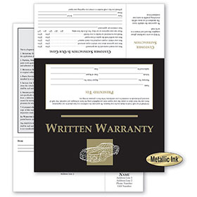 UPDATED - Customer Satisfaction Warranty - Black & Gold Wireframe