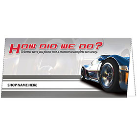Customer Satisfaction Response Card - How Did We Do?