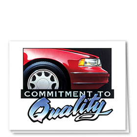 Auto Repair Thank You Cards - Commitment to Quality