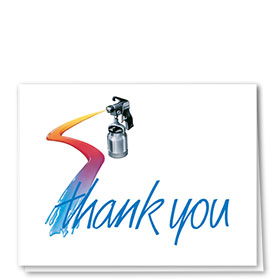 Auto Repair Thank You Cards  - Spray
