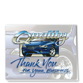 Auto Repair Thank You Cards  - Superior Quality