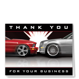 Auto Repair Thank You Postcards - Flash