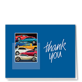Auto Repair Thank You Cards  - Stacked Cars