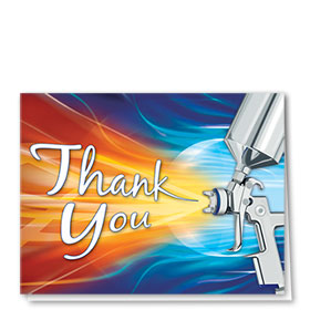 Auto Repair Thank You Cards  - Wild Spray