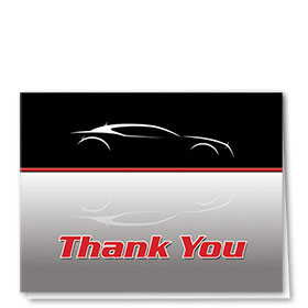 Auto Repair Thank You Postcards - Silhouette