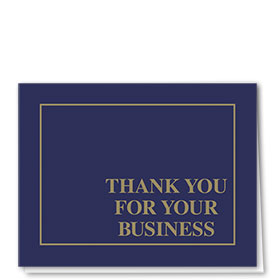 Auto Repair Thank You Postcards - Linen Blue & Gold, Business