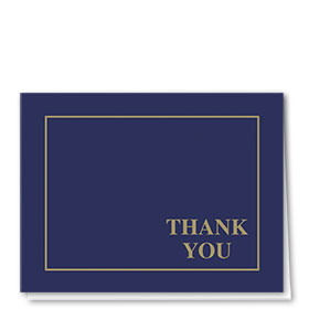 Auto Repair Thank You Postcards - Linen Blue & Gold