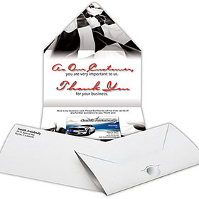 Self Mailing Thank You Note
