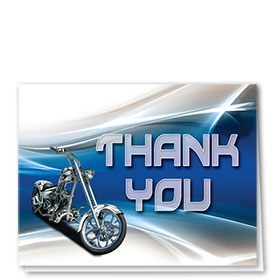 Auto Repair Thank You Cards - Paint Swoosh - Blue