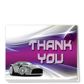 Auto Repair Thank You Cards - Paint Swoosh - Purple