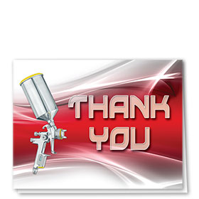 Auto Repair Thank You Cards - Paint Swoosh - Red