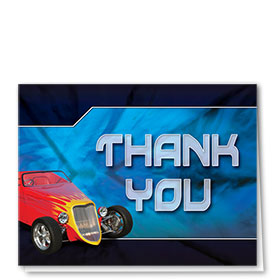 Auto Repair Thank You Cards - The Flame - Blue