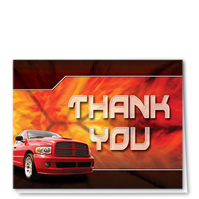 Auto Repair Thank You Cards - The Flame - Red