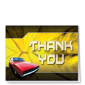 Auto Repair Thank You Cards - The Flame - Yellow