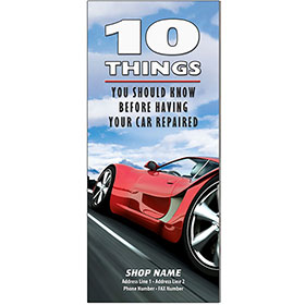 "Auto Repair Brochures - ""10 Things"" Red Racer (250)"