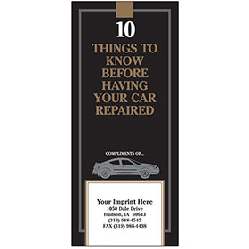 "Auto Repair Brochures - ""10 Things"" Black & Gold"