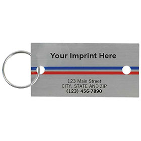 Full-Color Key Tags - Brushed Silver