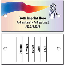 Full-Color Automotive Key Tags -Superior Quality