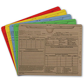 Auto Repair Order Jackets - Colored, Assortment Package (100)
