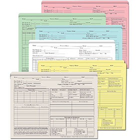 Auto Repair Order Folders - Color  (100)
