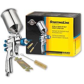 DeVilbiss StartingLine Detail & Touch-Up HVLP Gravity Spray Gun 802405