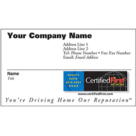 CertifiedFirst - Business Cards