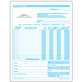 Auto Repair Supplement Request Forms