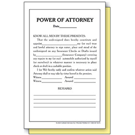 Power of Attorney Form (250)