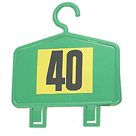 Plastic Auto Repair Mirror Hangers - Numbered