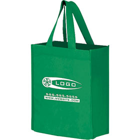 "Custom Reusable Recyclable Grocery Bags - 8"" x 4"" x 10"""