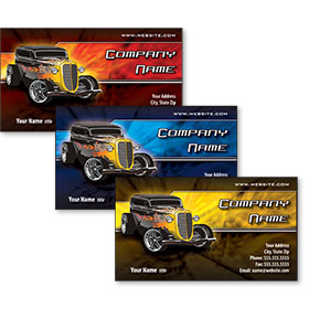 Full Color Auto Repair Business Card - The Flame