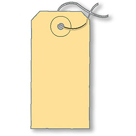 Plain Car Key Tags with Wire Ties