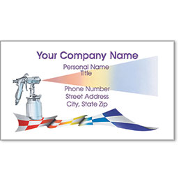 Full-Color Auto Repair Business Cards - Checkered Flag