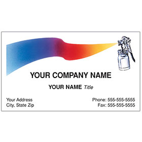 Auto Repair Business Card - Large Spray Gun/Paint