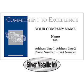 UPDATED - Business Card - Blue & Silver Wire