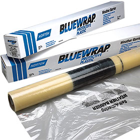 "Norton Blue Wrap Self-Adhesive Weather Barrier 36"" X 100'"