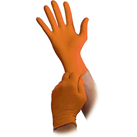 Atlantic Safety Orange Lightning Nitrile Safety Gloves OR