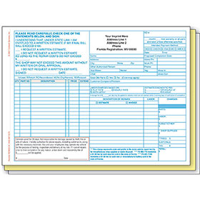 Repair Order - Florida State Compliant, 3-Part (250)