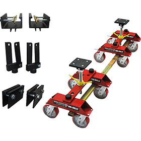 Stand with 2 9600 Dollies, 1 Pinch Clamp, 1 Frame Clamp and 1 Hub Adapter