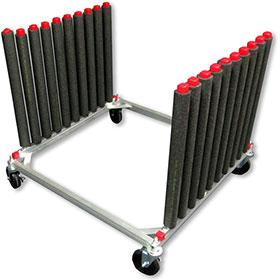 Mobile 9-Slot Aluminum Windshield Rack
