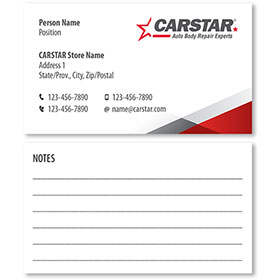 CARSTAR - White Double Sided Card - Notes
