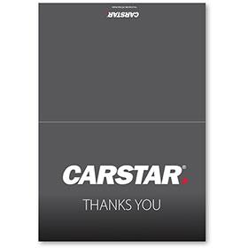 CARSTAR Thank You Card Fold Over - Grey