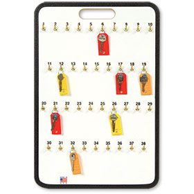 Portable Key Storage Board with Spring Hooks - 38 Keys