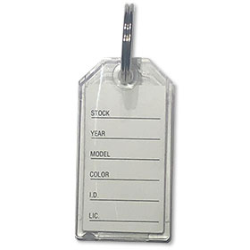 Durable Plastic Key Tags with Heavy Duty Rings
